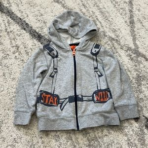 Gray Sweater 'Backpack Explore'Toddler Boy 3T